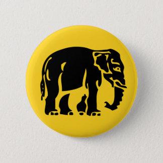 Bóton Redondo 5.08cm Advirta os elefantes que cruzam o ⚠ tailandês do