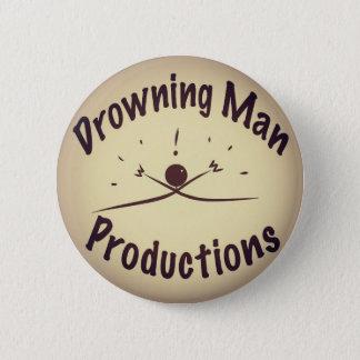 Bóton Redondo 5.08cm Afogando o botão das produções do homem