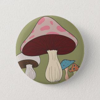 Bóton Redondo 5.08cm Agrupamento do cogumelo