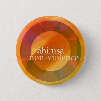 Bóton Redondo 5.08cm ahimsā - não-violência