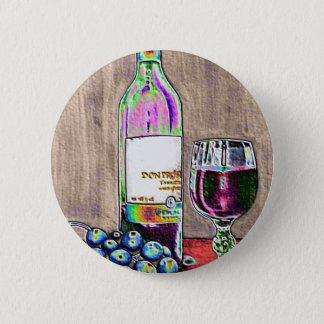 Bóton Redondo 5.08cm Ainda a arte moderna da vida do vinho e as uvas