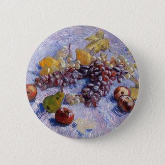 Bóton Redondo 5.08cm Ainda vida: Maçãs, peras, uvas - Van Gogh