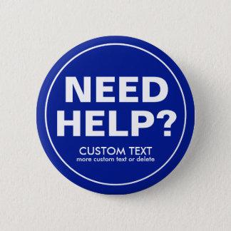 Bóton Redondo 5.08cm Ajuda feita sob encomenda da necessidade? Azul