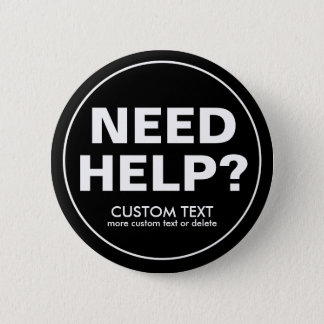Bóton Redondo 5.08cm Ajuda feita sob encomenda da necessidade? Preto