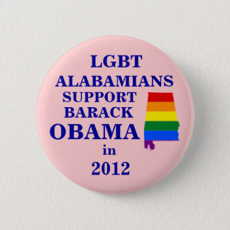 Bóton Redondo 5.08cm Alabamians de LGBT para Obama 2012