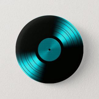 Bóton Redondo 5.08cm Álbum gravado retro de vinil na cerceta