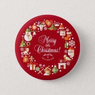 Bóton Redondo 5.08cm Alegre bonito pouco botão do Pin do Natal  