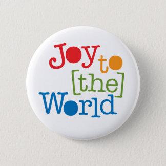 Bóton Redondo 5.08cm Alegria ao mundo