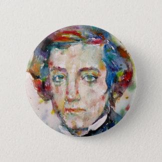 Bóton Redondo 5.08cm Alexis de tocqueville - retrato da aguarela
