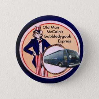 Bóton Redondo 5.08cm Algaravia de McCain, botão expresso