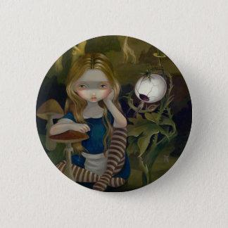 """Bóton Redondo 5.08cm """"Alice botão de uma paisagem de Bosch"""""""