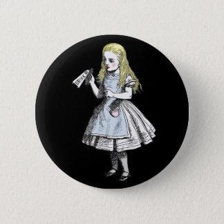 Bóton Redondo 5.08cm Alice no país das maravilhas mágico bebe-me Pin da