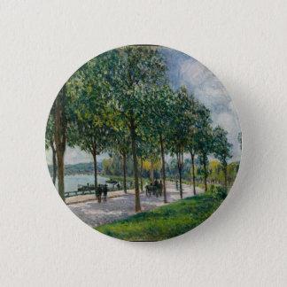 Bóton Redondo 5.08cm Allée de árvores de castanha - Alfred Sisley