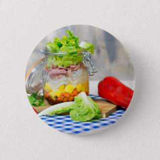 Bóton Redondo 5.08cm Almoço em um vidro