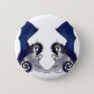 Bóton Redondo 5.08cm Amantes do unicórnio e do casamento do dragão