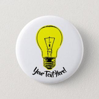 Bóton Redondo 5.08cm Amarelo da lâmpada