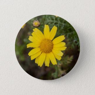 Bóton Redondo 5.08cm Amarelo do cu da flor da margarida