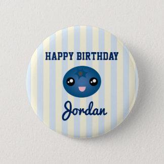 Bóton Redondo 5.08cm Ame-o festa de aniversário azul muito bonito da