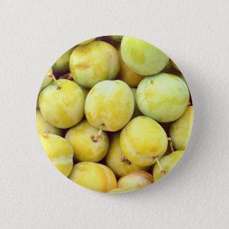 Bóton Redondo 5.08cm Ameixas amarelas macro