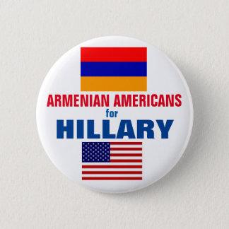 Bóton Redondo 5.08cm Americanos arménios para Hillary 2016