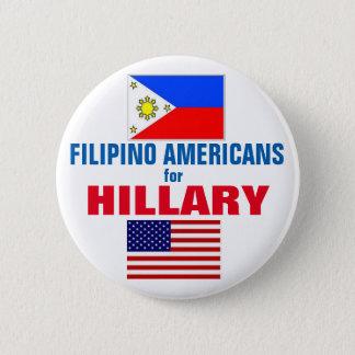 Bóton Redondo 5.08cm Americanos filipinos para Hillary 2016