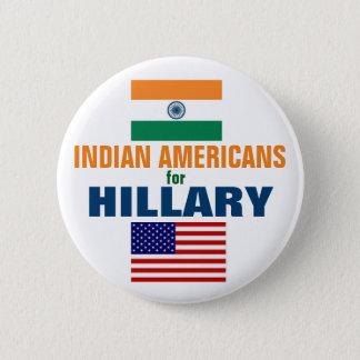 Bóton Redondo 5.08cm Americanos indianos para Hillary 2016