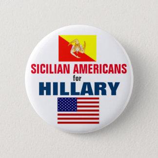 Bóton Redondo 5.08cm Americanos sicilianos para Hillary 2016