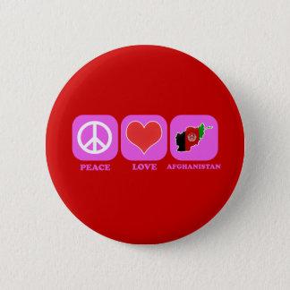 Bóton Redondo 5.08cm Amor Afeganistão da paz