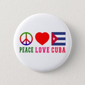 Bóton Redondo 5.08cm Amor Cuba da paz