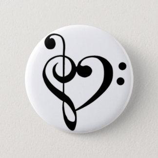 Bóton Redondo 5.08cm Amor da música