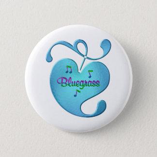 Bóton Redondo 5.08cm Amor da música de Bluegrass