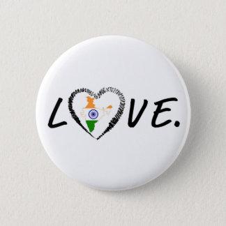 Bóton Redondo 5.08cm Amor India