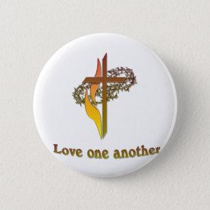 bc500fb9378 Bóton Redondo 5.08cm amor outra uma cruz cristã
