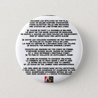 Bóton Redondo 5.08cm Amor psychédélique - Jogos de Palavras - François