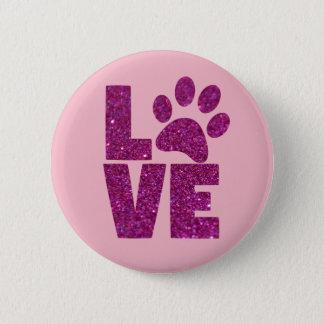 Bóton Redondo 5.08cm Amor redondo do cachorrinho do botão