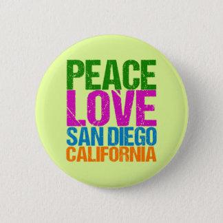 Bóton Redondo 5.08cm Amor San Diego Califórnia da paz