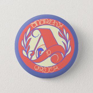 Bóton Redondo 5.08cm anarcho-americano