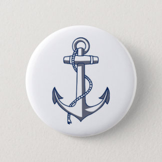 Bóton Redondo 5.08cm Âncora náutica