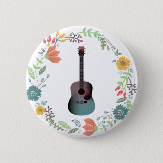 Bóton Redondo 5.08cm Anel da flor da guitarra