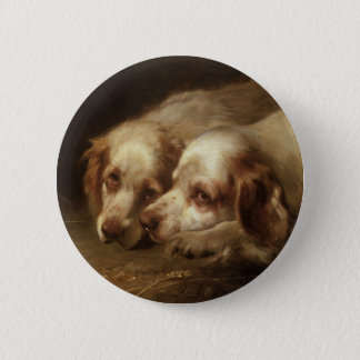 Bóton Redondo 5.08cm Animais do vintage, cães de filhote de cachorro