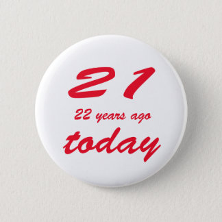 Bóton Redondo 5.08cm aniversário 43