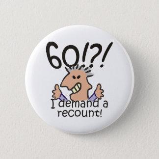 Bóton Redondo 5.08cm Aniversário da descrição 60th
