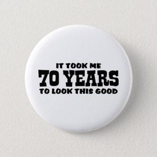 Bóton Redondo 5.08cm aniversário do 70