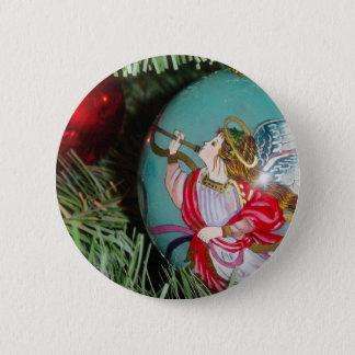 Bóton Redondo 5.08cm Anjo do Natal - arte do Natal - decorações do anjo
