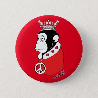 Bóton Redondo 5.08cm Ano do rei calmo e loving 2016 do macaco