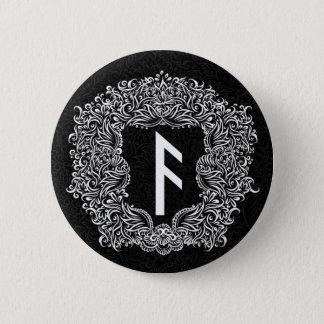 Bóton Redondo 5.08cm Ansuz-rune/prosperidade, vitalidade