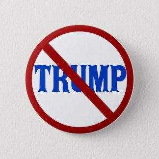 Bóton Redondo 5.08cm Anti círculo vermelho X de Donald Trump