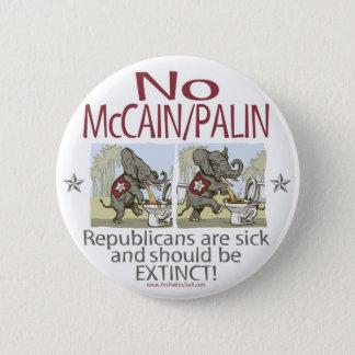 Bóton Redondo 5.08cm Anti elefantes do doente de McCain Palin