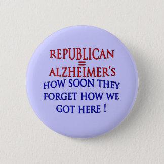Bóton Redondo 5.08cm Anti republicano político como logo esquecem