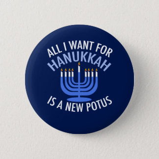 Bóton Redondo 5.08cm Anti trunfo Hanukkah